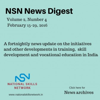Skill Development News India February 2016