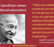 Mahatma Gandhi on craft-centric education