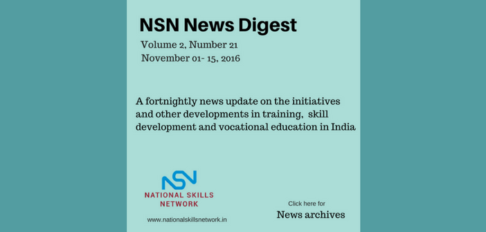 Skill Development News Digest - 151116