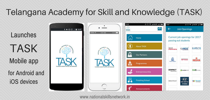 TASK launches a user-friendly mobile app for easy access to training, certification and jobs