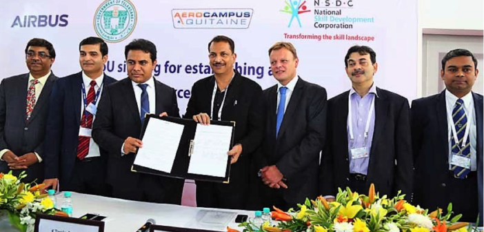 Airbus Signs MoU with NSDC to set up Centre of Excellence in Aerospace Skill Development