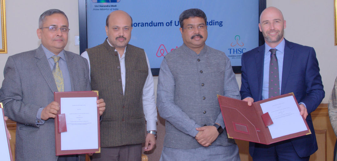 Skill India Airbnb MoU