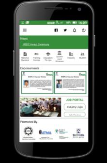 RSDC mobile app rubber skills jobs