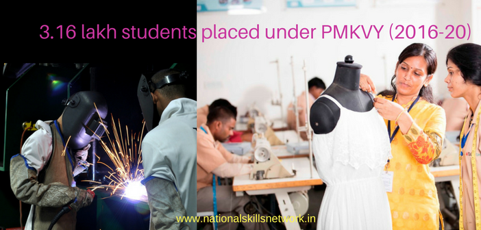 3.16 lakh pmkvy candidates placements