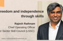 Rajesh Rathnam Independence through skills
