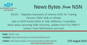 Skill Development Newsbytes 27th Aug 2018