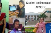 Student testimonials from APSSDC