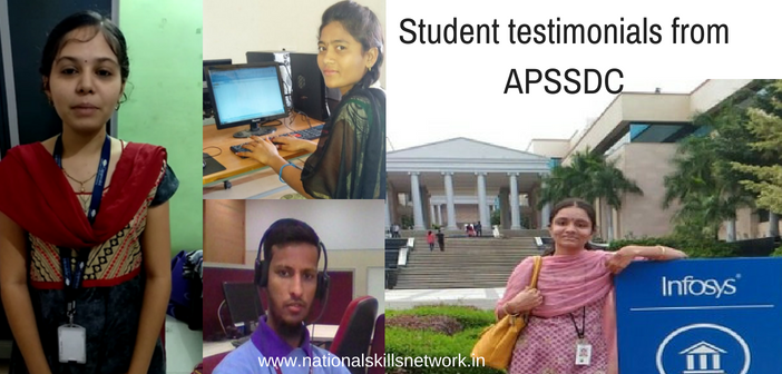 Student testimonials from APSSDC