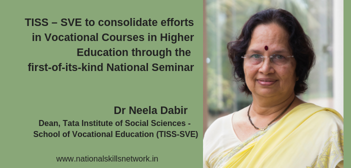 TISS – SVE to consolidate efforts in vocational courses in higher education through the first-of-its-kind national seminar