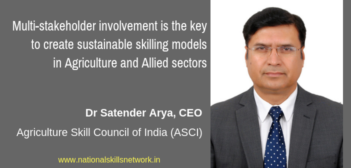 Skilling in Agriculture and Alllied Sector