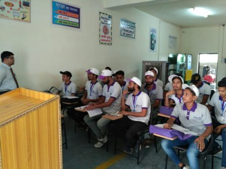 Compression Moulding Operator, classroom session underway, in Ludhiana under the DDU-GKY scheme