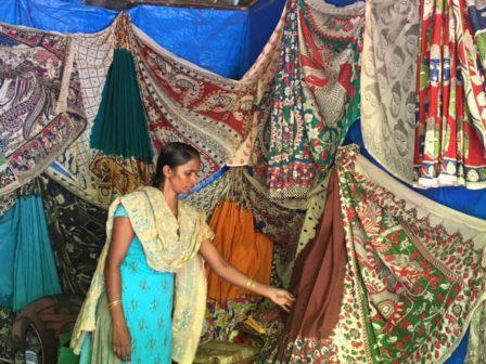 Kalamkari stall Shilparamam