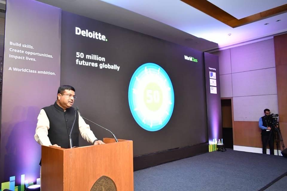 Deloitte World Class India Dharmendra Pradhan