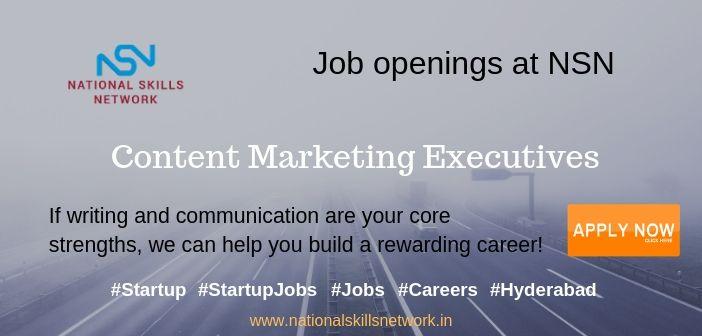Job openings at NSN - Content Marketing Executives