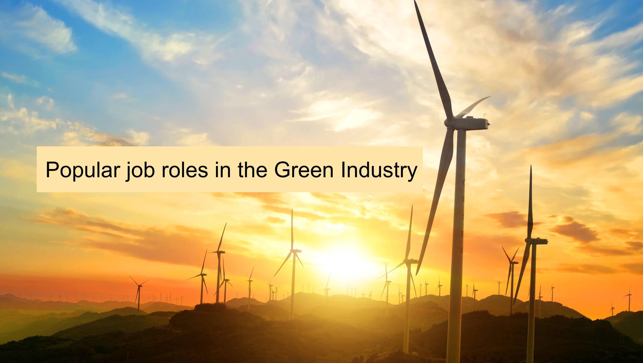 popular job roles in the green industry sectors