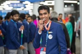 Sanjoy Pramanik represented West Bengal won the Bronze medal in Jewellery