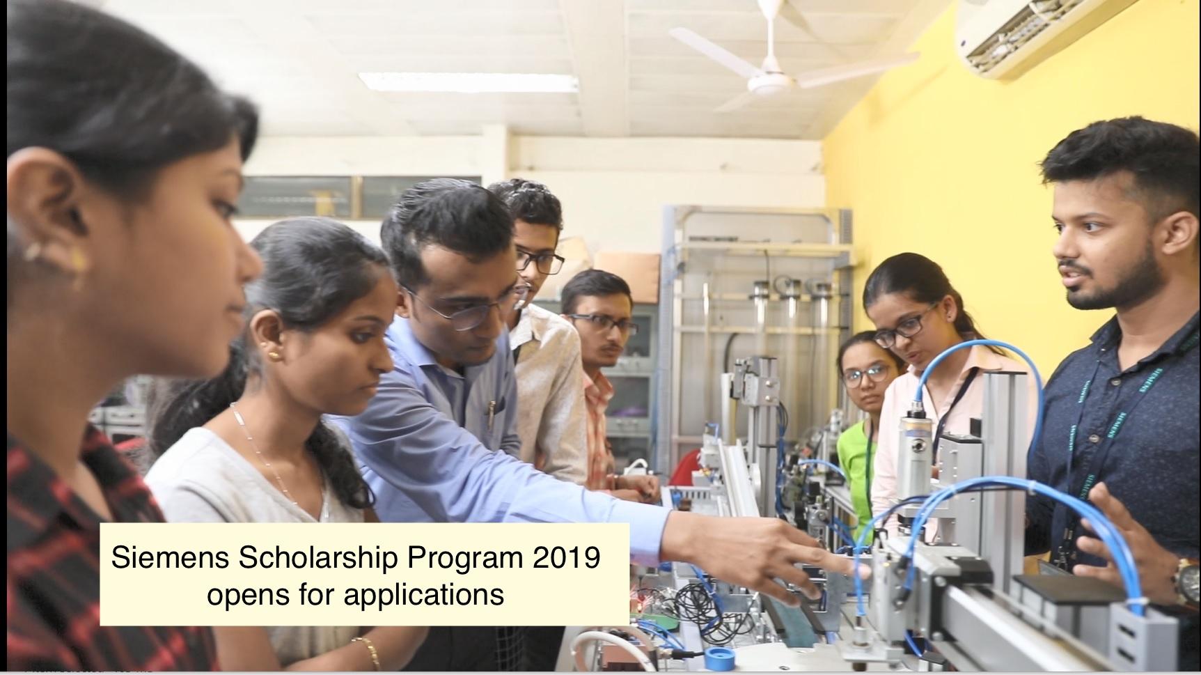 Siemens Scholarship Program 2019