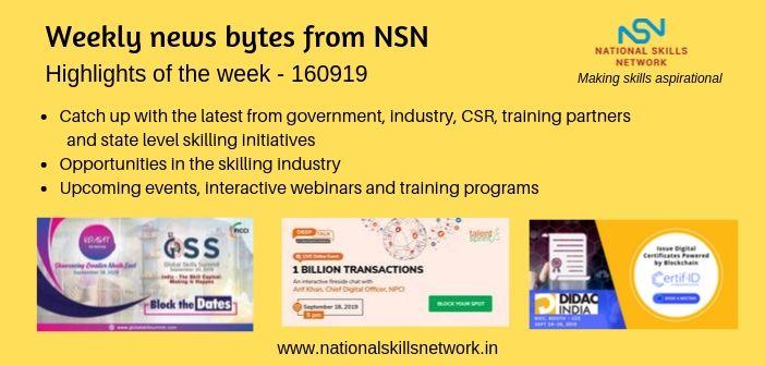 News Bytes on Skill Development and Vocational Training 160919