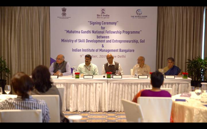 MSDE launches Mahatma Gandhi National Fellowship with IIM Bangalore