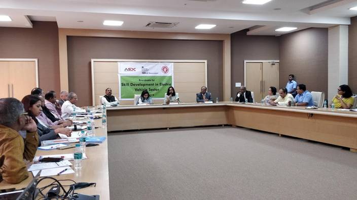 Roundtable on Skill Development for Electric Vehicles organized by DFID, ASDC and SSOU