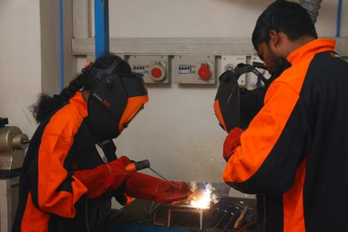 Welding training at Kemppi