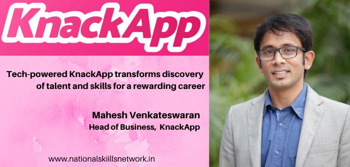 Mahesh Venkateswaran Business Head KnackApp
