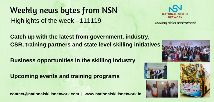 News Bytes on Skill Development and Vocational Training – 111119