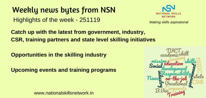 News Bytes on Skill Development and Vocational Training – 251119