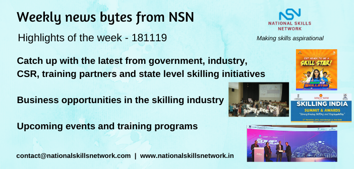 News Bytes on Skill Development and Vocational Training- 181119