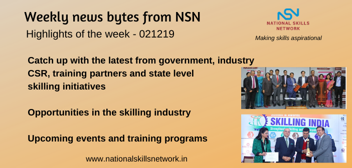 News Bytes on Skill Development and Vocational Training – 021219