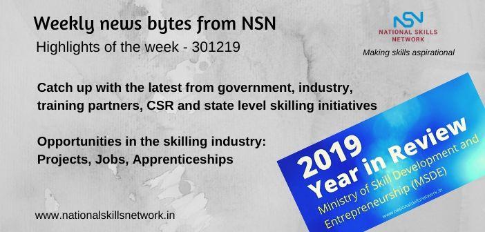 News Bytes on Skill Development and Vocational Training – 301219