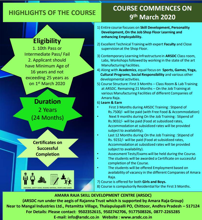 Amara Raja SDC course