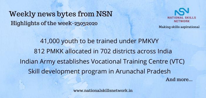 News Bytes on Skill Development and Vocational Training – 23032020