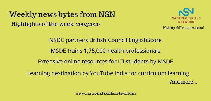 News Bytes on Skill Development and Vocational Training – 20042020