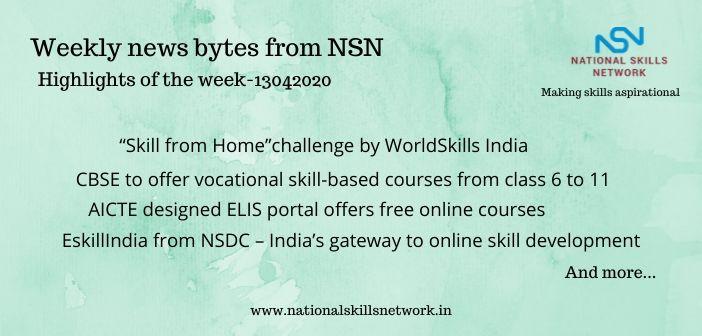 News Bytes on Skill Development and Vocational Training – 13042020 (2)
