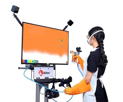 Skillveri simulator-based spray painting