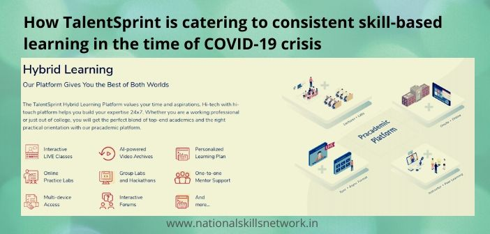 TalentSprint skill-based learning in the time of COVID-19 crisis