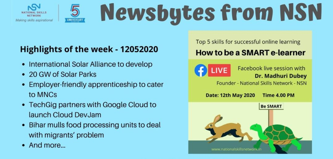 Newsbytes on skill development vocational training 12052020