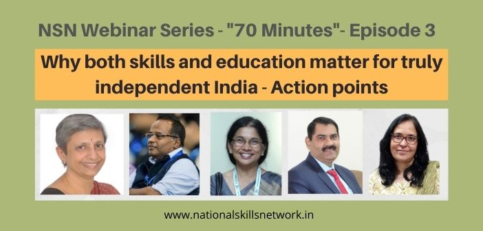 Why both skills and education matter for truly independent India
