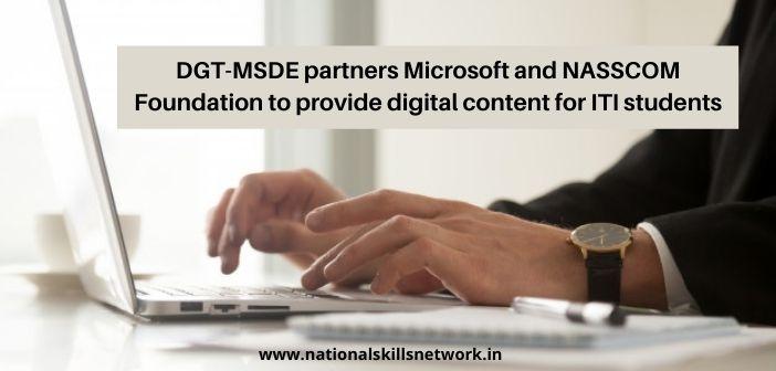 DGT-MSDE partners Microsoft and NASSCOM Foundation