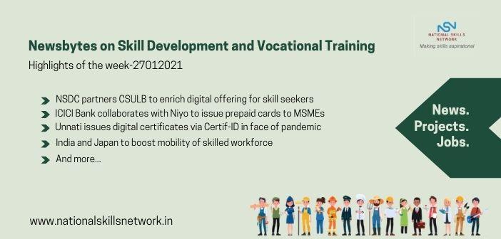 Newsbytes on Skill Development and Vocational Training – 27012021