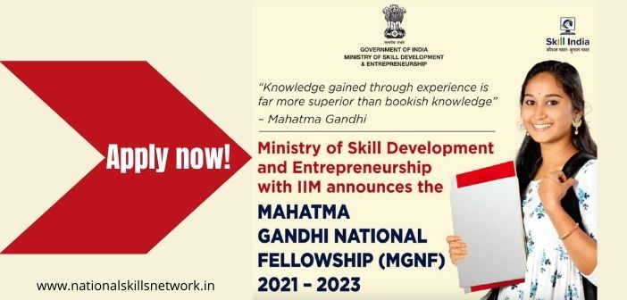 Mahatma Gandhi National Fellowship MGNF MSDE IIM