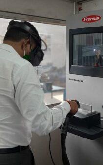 Simulator-based welding training by Fronius India