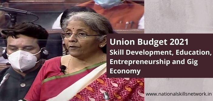 Union budget 2021 skill development education