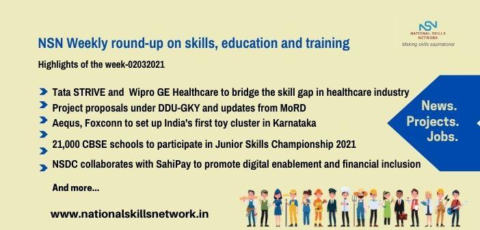 Newsbytes on Skill Development and Vocational Training – 02032021