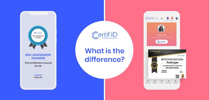 Digital Badges vs Digital Certificates