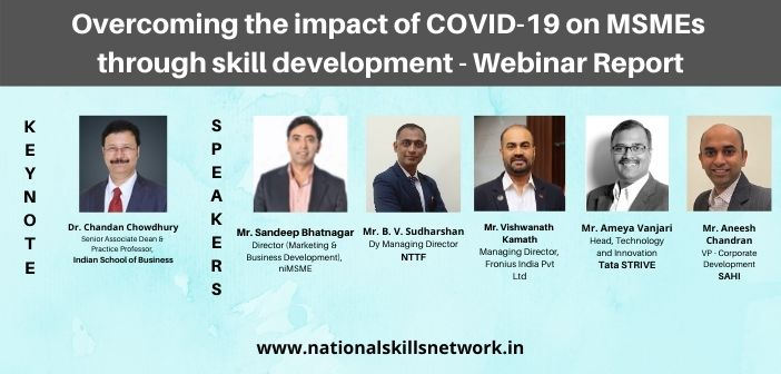 Overcoming the impact of COVID-19 on MSMEs through skill development