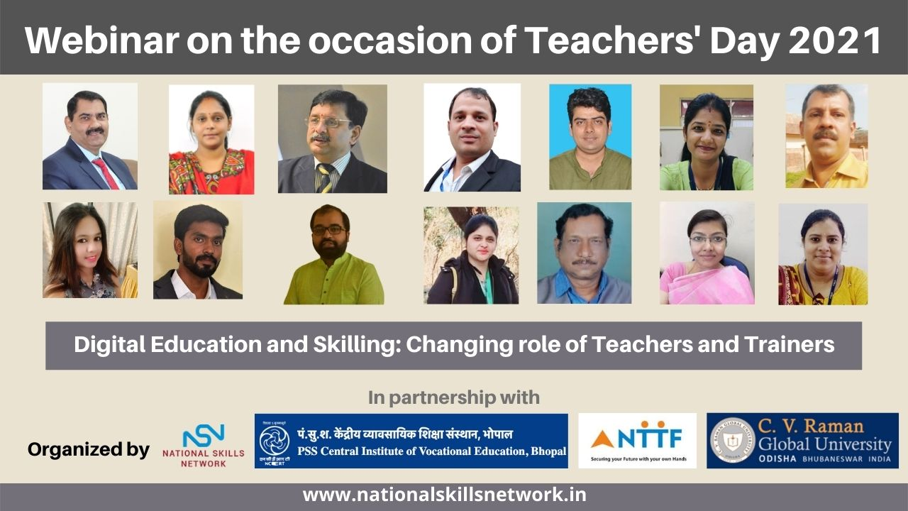 Webinar Report Digital Education and Skilling Changing role of Teachers and Trainers