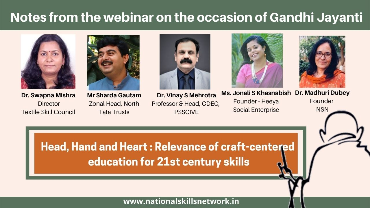 Head, Hand and Heart Relevance of craft-centered education for 21st century skills